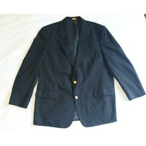 Brooks Brothers Mens 2 Button Sport Coat Blue 45R